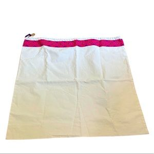 New Tory Burch large off white pink blue dust bag
